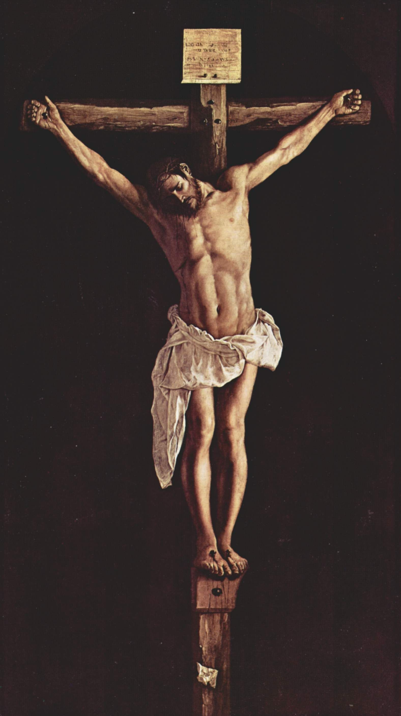 Tablet Compatible - Christ On The Cross Zurbarán , HD Wallpaper & Backgrounds