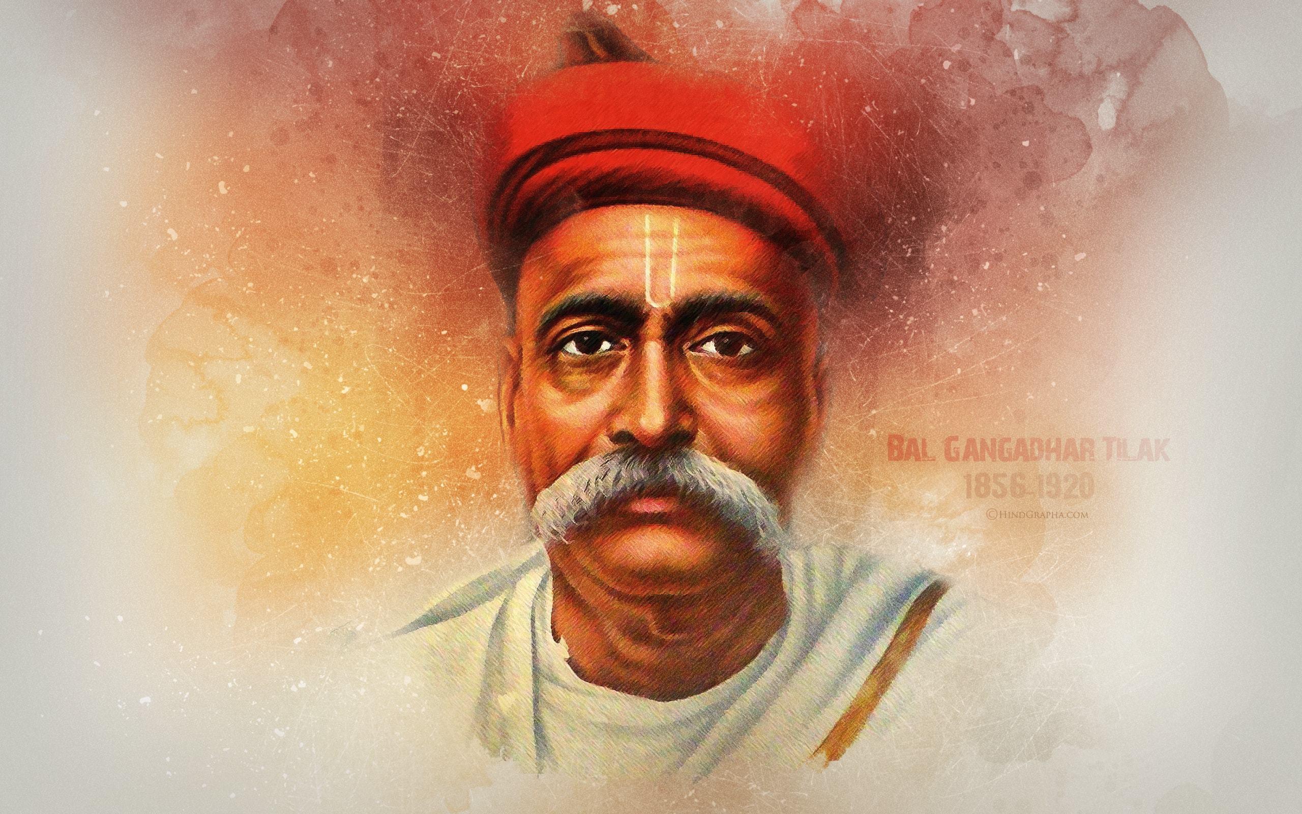 Bal Gangadhar Tilak Hd Wallpaper Hindgrapha - Bal Gangadhar Tilak Hd , HD Wallpaper & Backgrounds