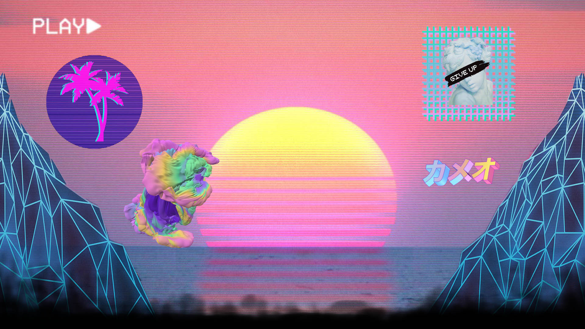 Mlg-dank Memes Link - Vaporwave Aesthetic Background , HD Wallpaper & Backgrounds
