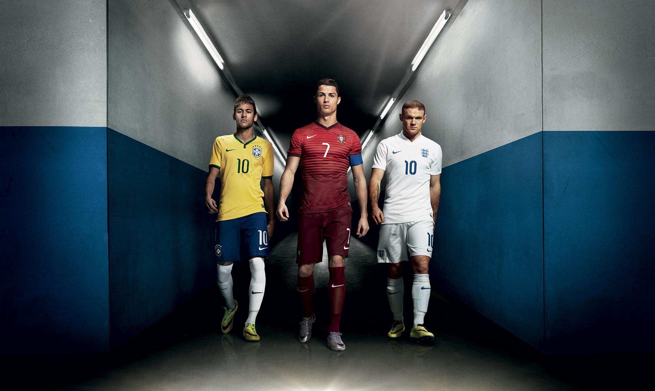 Desktop Mobiles Tablets - Ronaldo Messi Neymar Wallpaper Hd , HD Wallpaper & Backgrounds