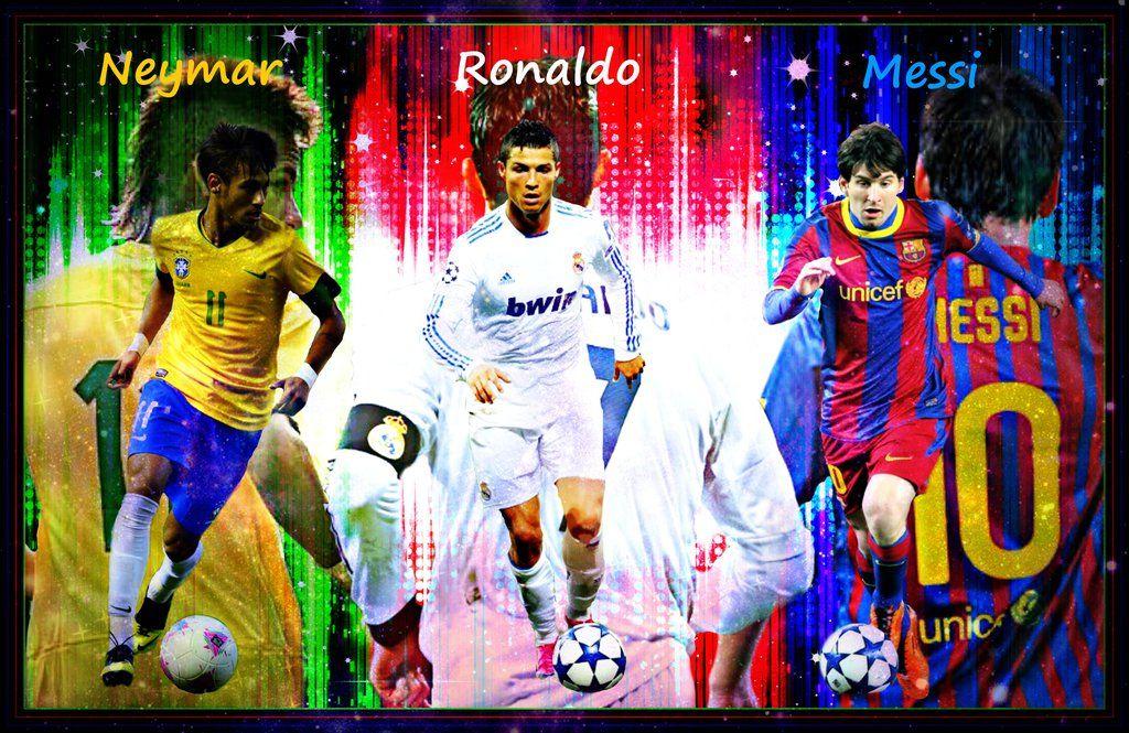 Messi Neymar Ronaldo Wallpaper - Neymar Ronaldo Wallpaper Messi , HD Wallpaper & Backgrounds