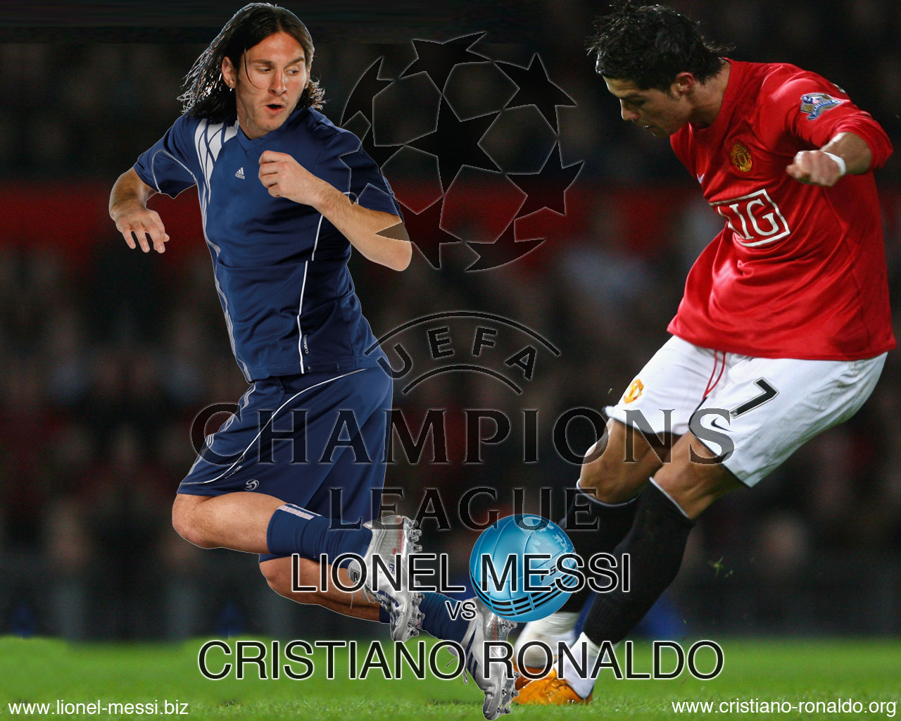 View Full Size - Action De Messi Vs Cr7 , HD Wallpaper & Backgrounds