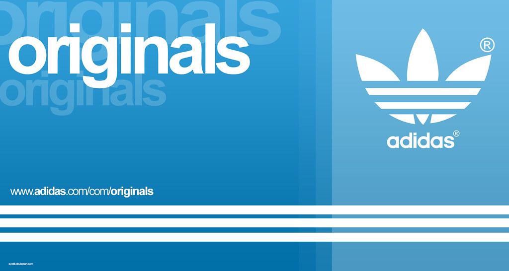 Adidas Originals Wallpaper - Original Blue Adidas Logo , HD Wallpaper & Backgrounds