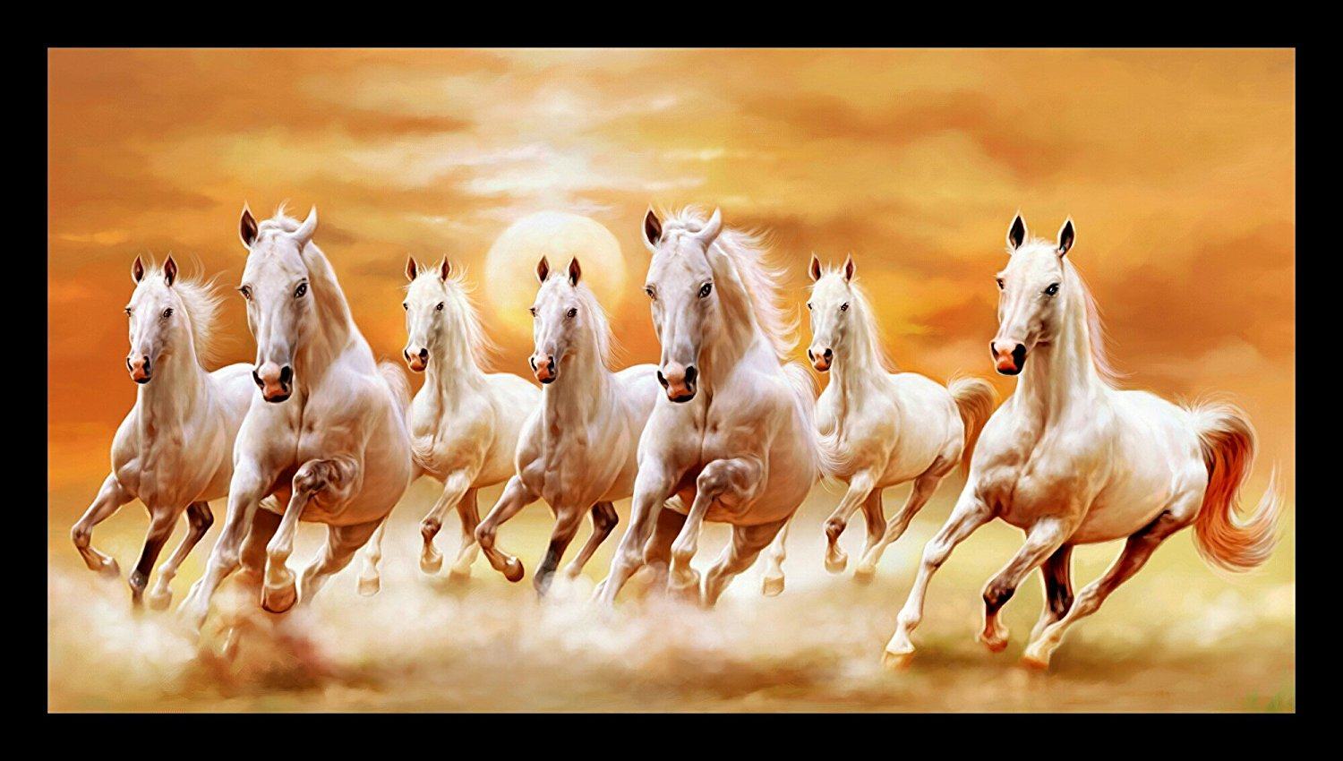 Seven Horses Hd Wallpaper White Seven Horses Painting 282144 Hd Wallpaper Backgrounds Download