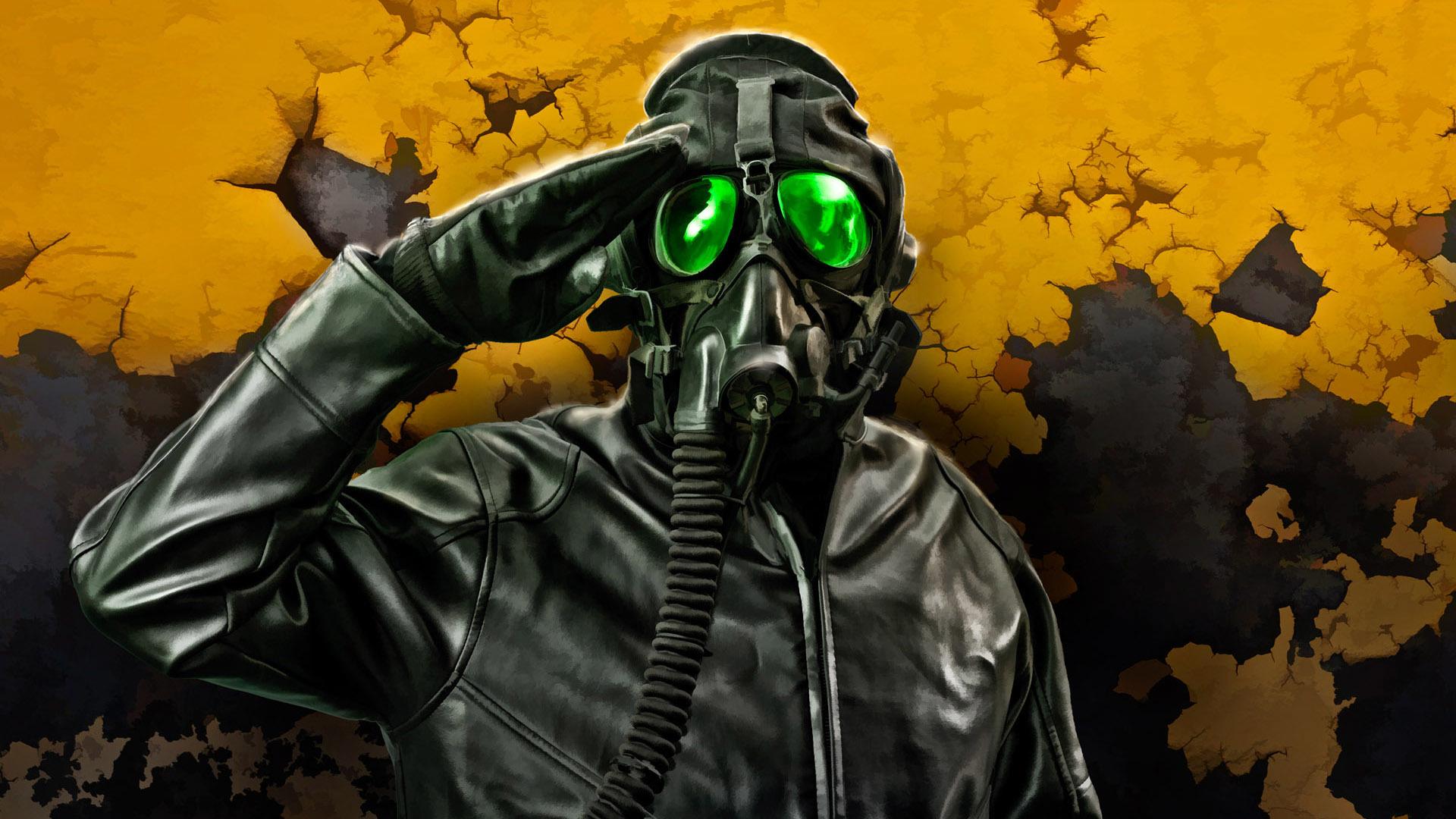 Wearing A Gas Mask Hd Wallpaper Chernobyl Reactor 4 Escape
