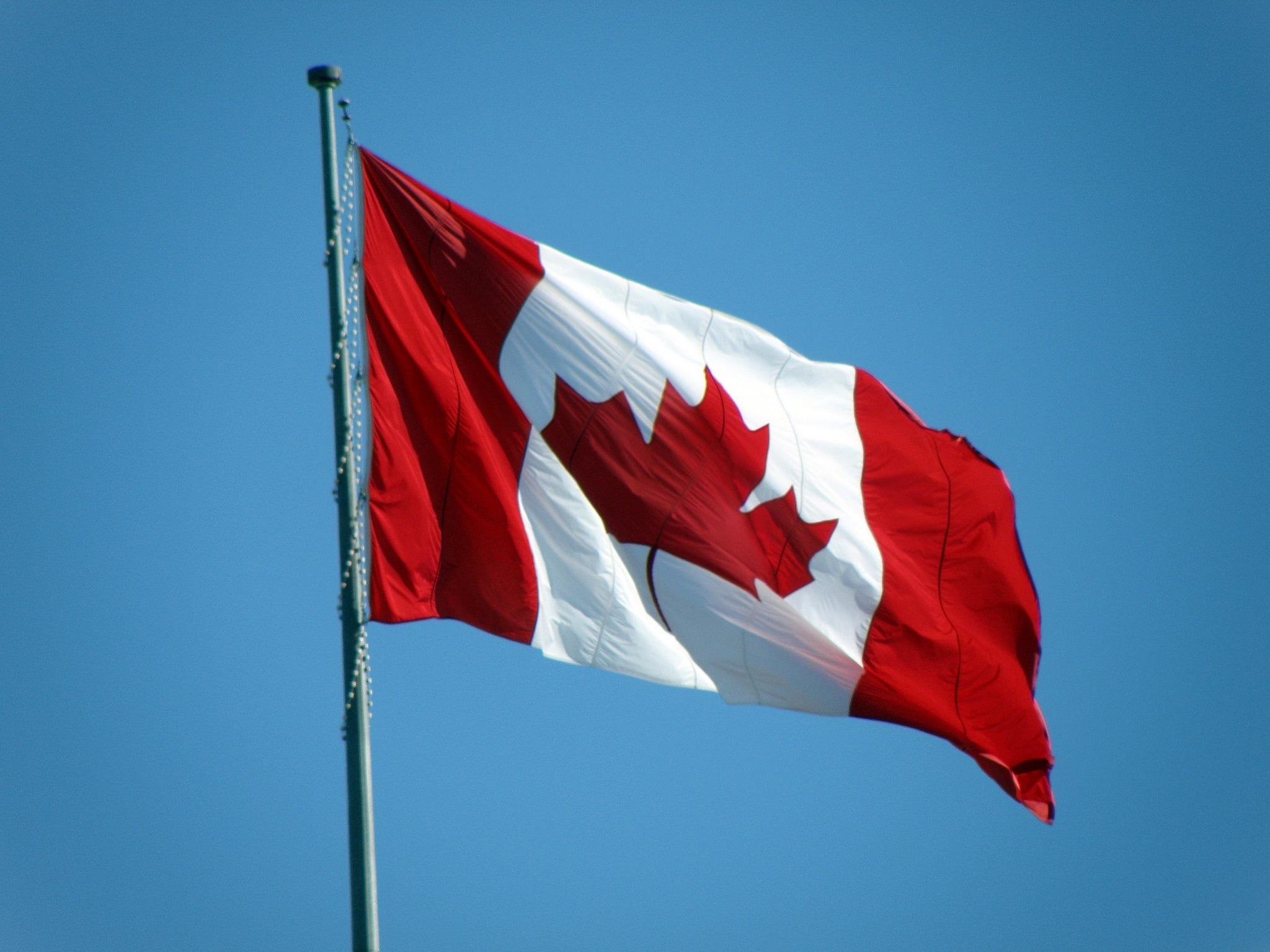 Canada Flag Bandera Roja Con Blanco Y Una Hoja 284148