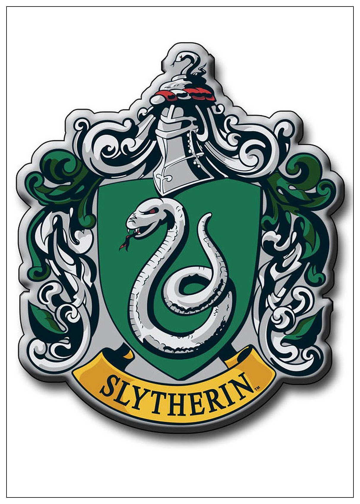 Harry Potter Wall Stickers Poster 4 Magic College Wallpaper - Slytherin Crest Harry Potter , HD Wallpaper & Backgrounds