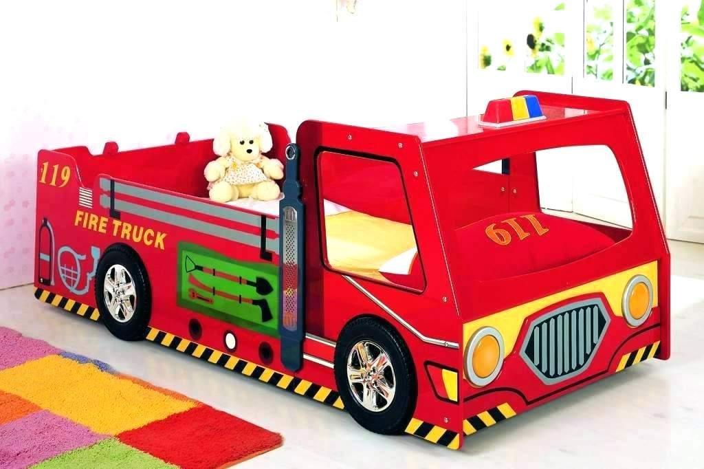 Monster Truck Bed Toddler Truck Bed Toddler Fire Truck - Fire Truck Toddler Bed Wood , HD Wallpaper & Backgrounds