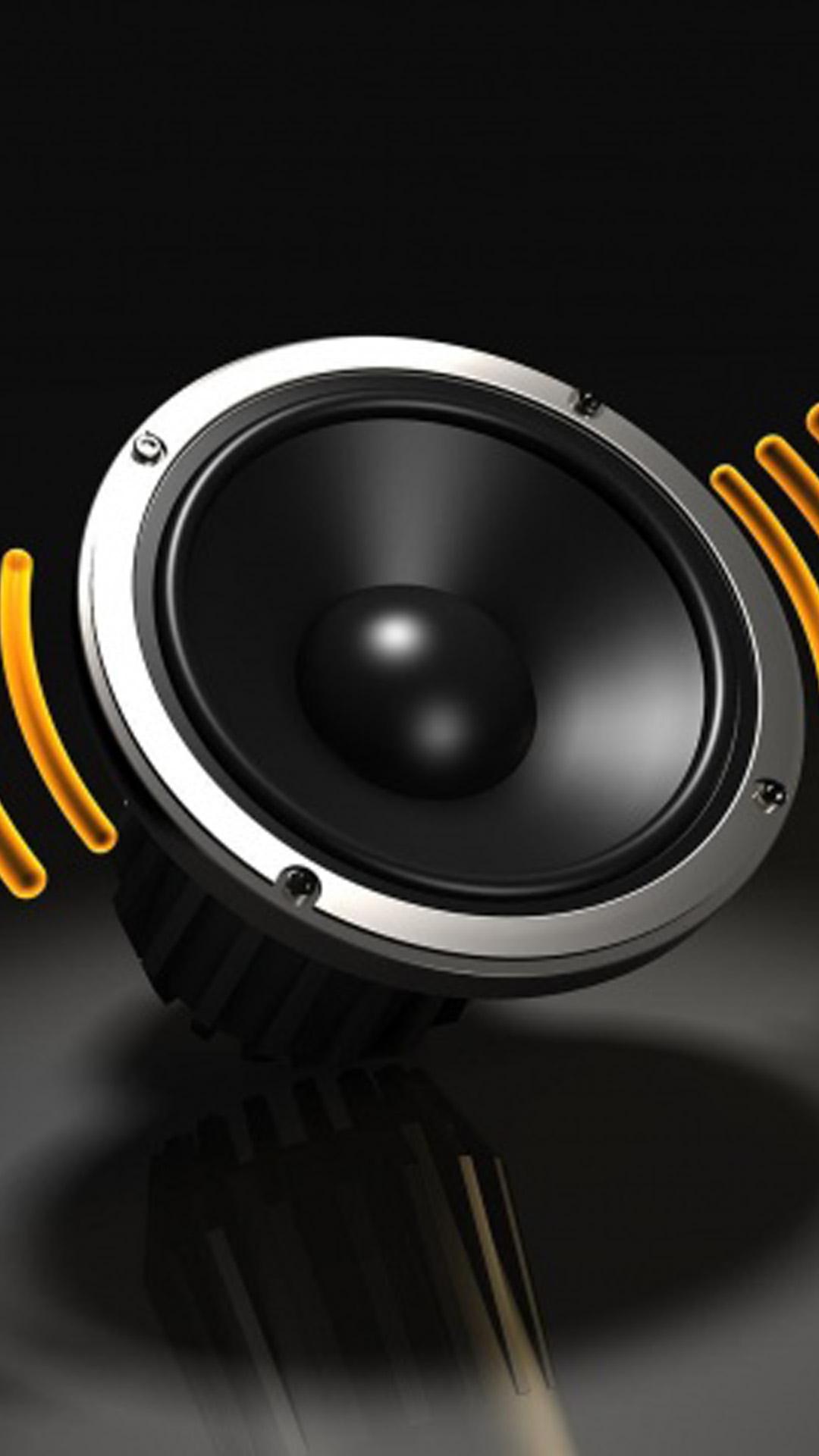 Black Speaker Lockscreen Android Wallpaper Example Picture