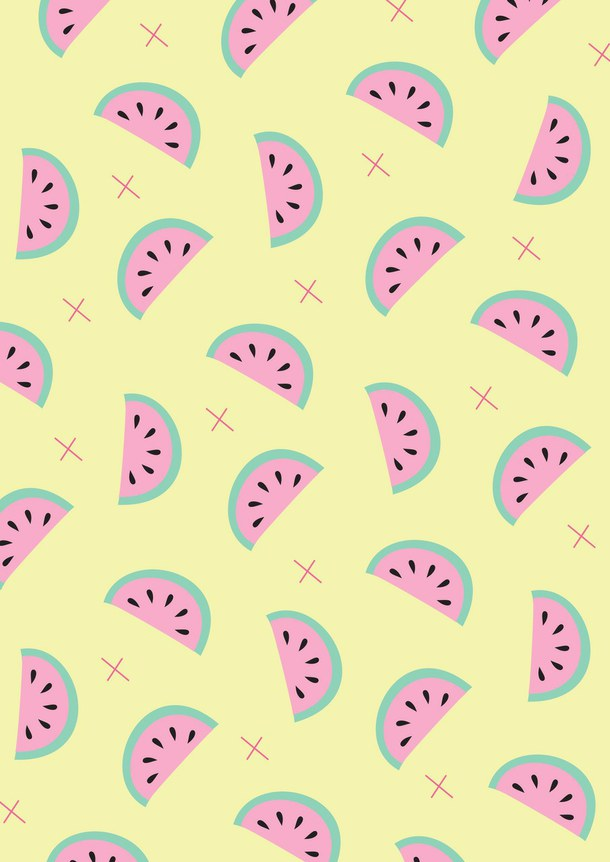 Cute Drawings Iphone Pink Vintage Wallpaper Watermelon Rainy Day Clip Art 287962 Hd Wallpaper Backgrounds Download