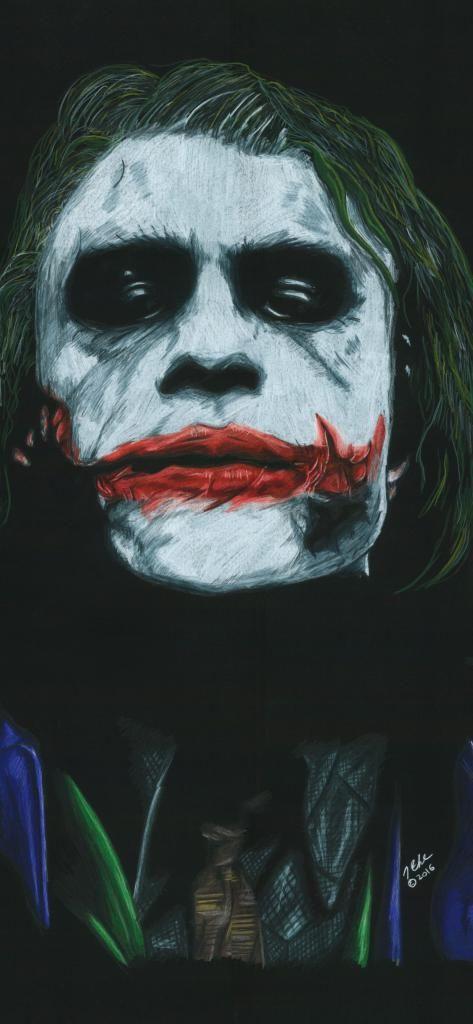 Iphone X Wallpaper Fictional Characters Clown The Dark - Dark Knight Joker 4k , HD Wallpaper & Backgrounds