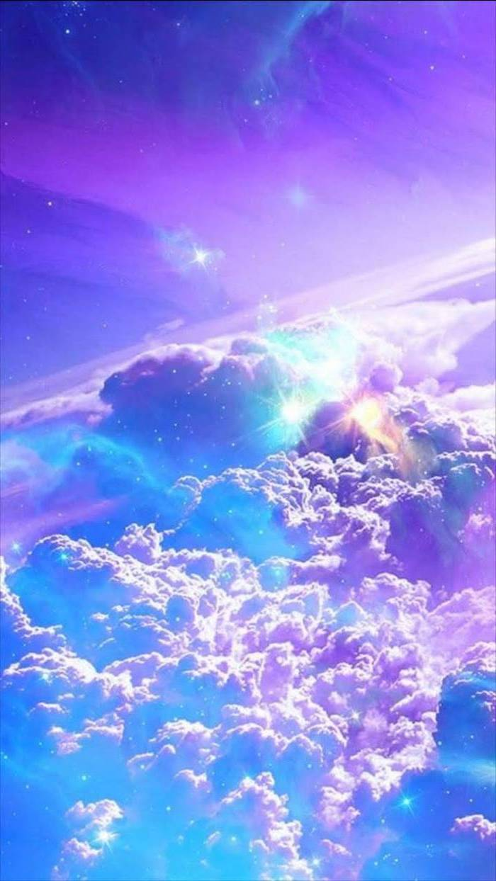 Galaxy Wallpaper 4k Above The Clouds Stars In The Blue Wallpaper For Phone 2835710 Hd Wallpaper Backgrounds Download