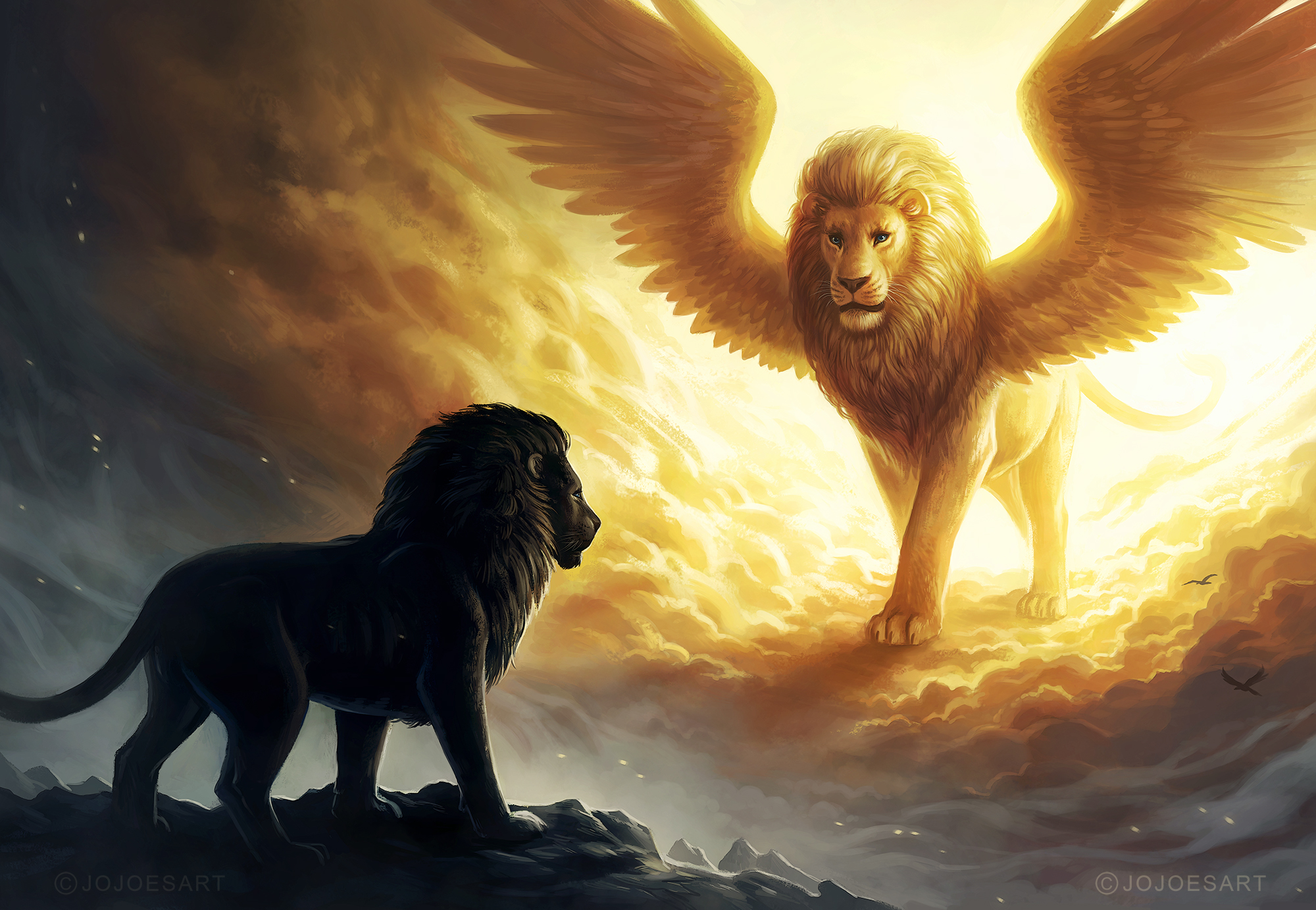 Lion King Spiritual Dark Fantasy, Hd Animals, 4k Wallpapers - Finding Yourself Spiritually Quote , HD Wallpaper & Backgrounds