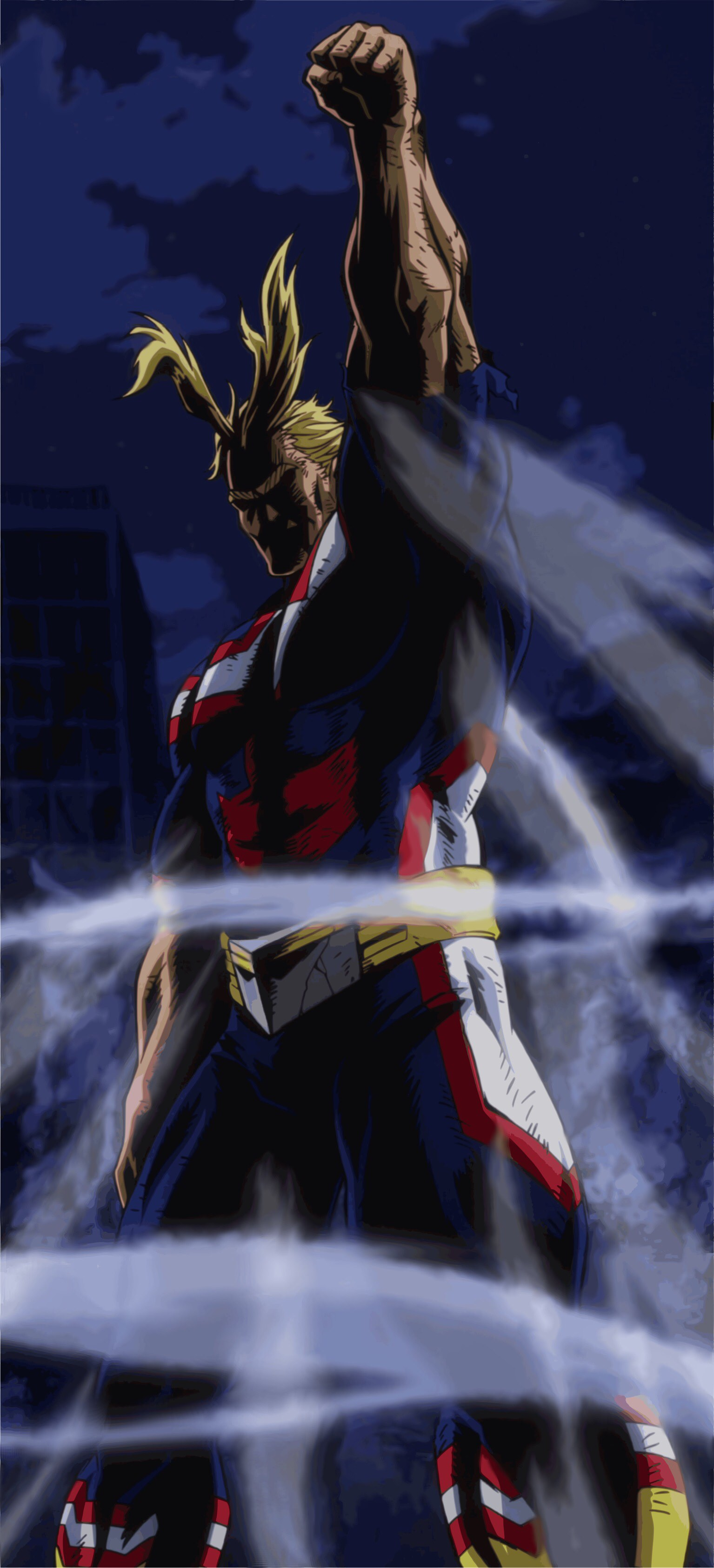 """All Might Wallpaper Hq All Might Wallpaper """"let Him - All Might Vs All For One , HD Wallpaper & Backgrounds"""