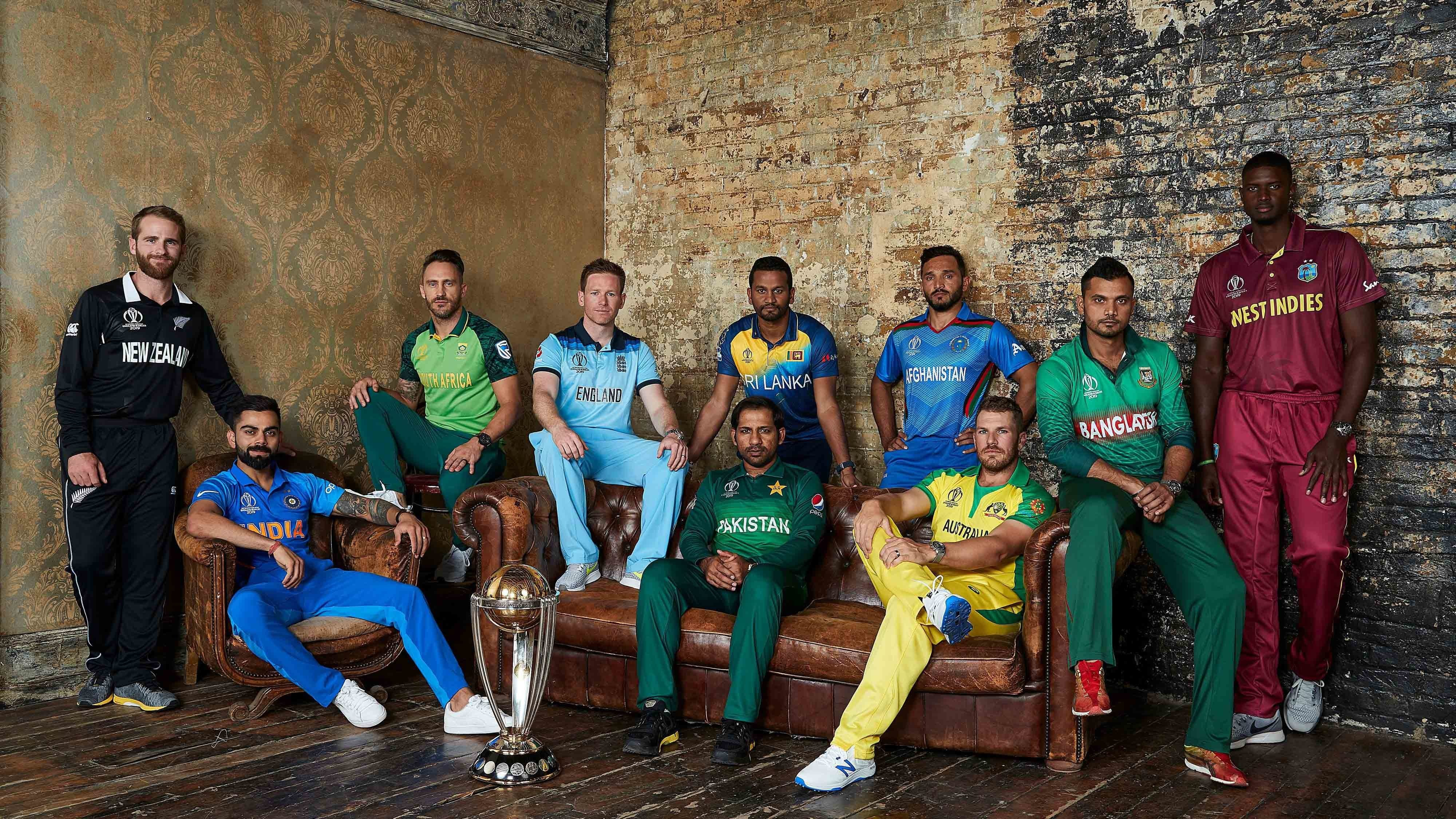 Cricket World Cup 2019 All Captains 4k Wallpaper - Cricket World Cup 2019 Hd , HD Wallpaper & Backgrounds