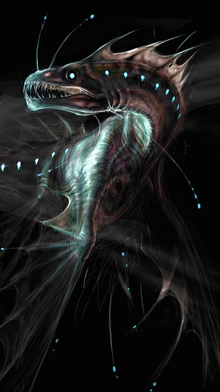 Abyss Iphone Wallpaper Giant Deep Sea Dragon 2841745 Hd Wallpaper Backgrounds Download