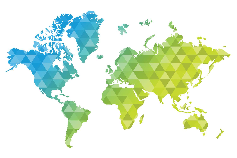 Polygonal World Map - World Map Wallpaper Graphics , HD Wallpaper & Backgrounds