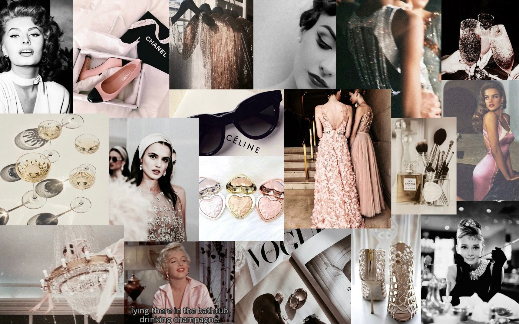 Girly Vintage Aesthetic Collage Wallpaper Laptop 2845685 Hd Wallpaper Backgrounds Download