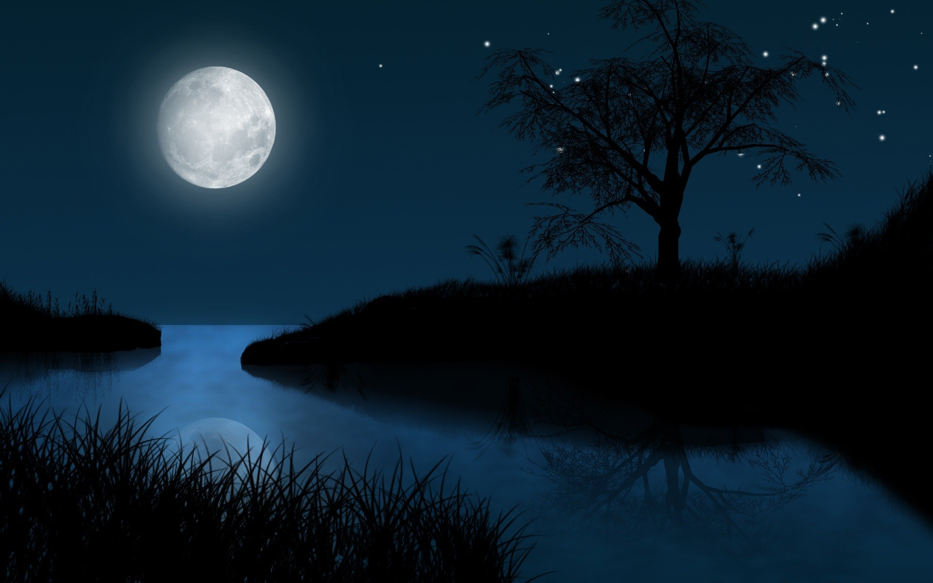 Moon At Night Clipart , HD Wallpaper & Backgrounds