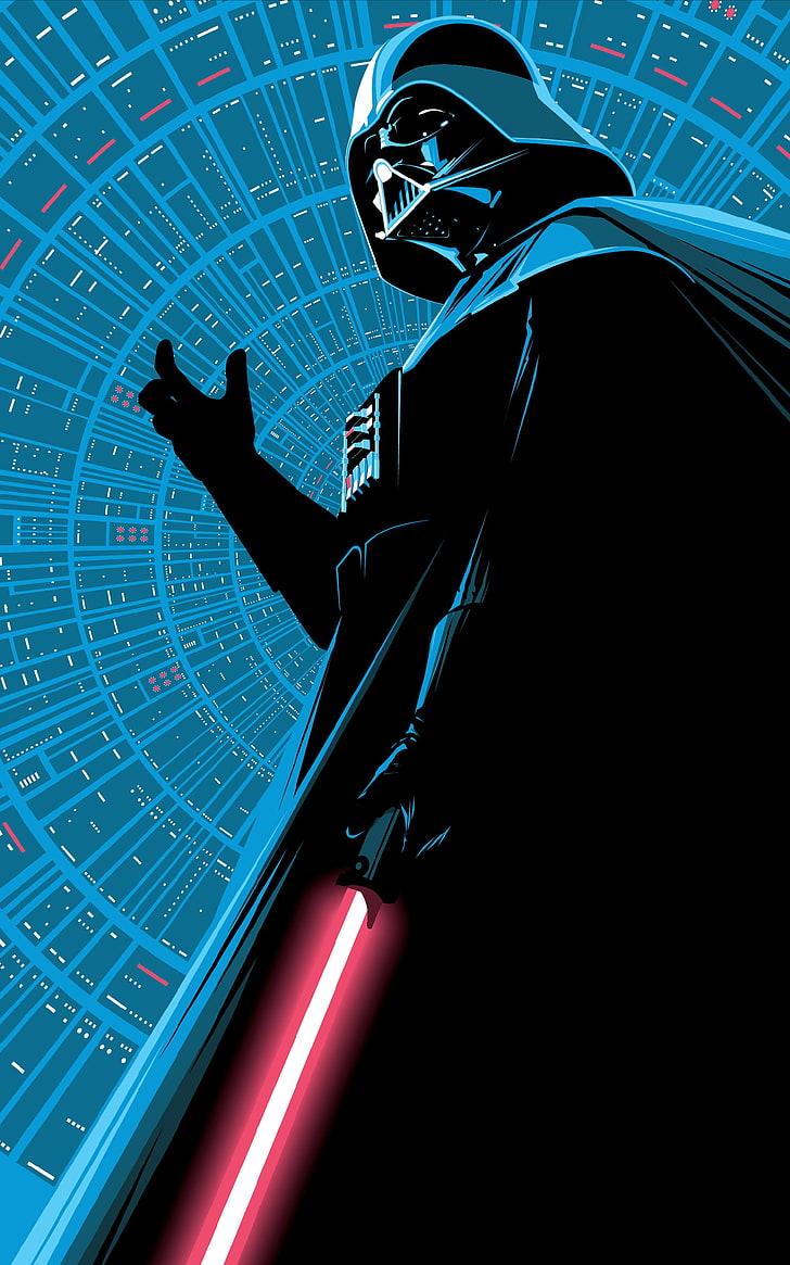 Darth Vader Lightsaber Minimalism Portrait Display Star Wars Note 10 Plus 2861628 Hd Wallpaper Backgrounds Download