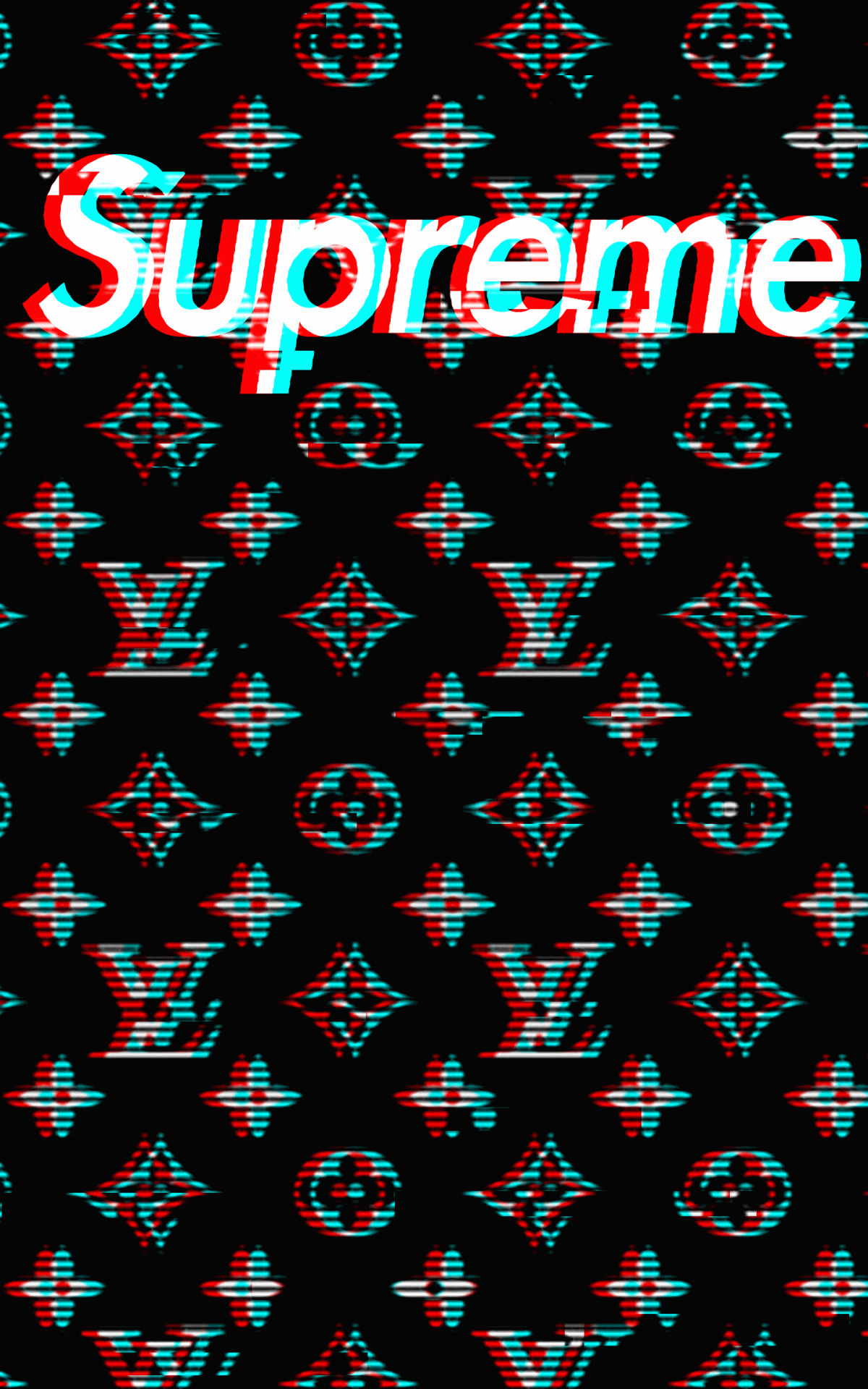 Black Louis Vuitton Supreme Wallpapers Top Black Louis Supreme Wallpaper Iphone 2861873 Hd Wallpaper Backgrounds Download