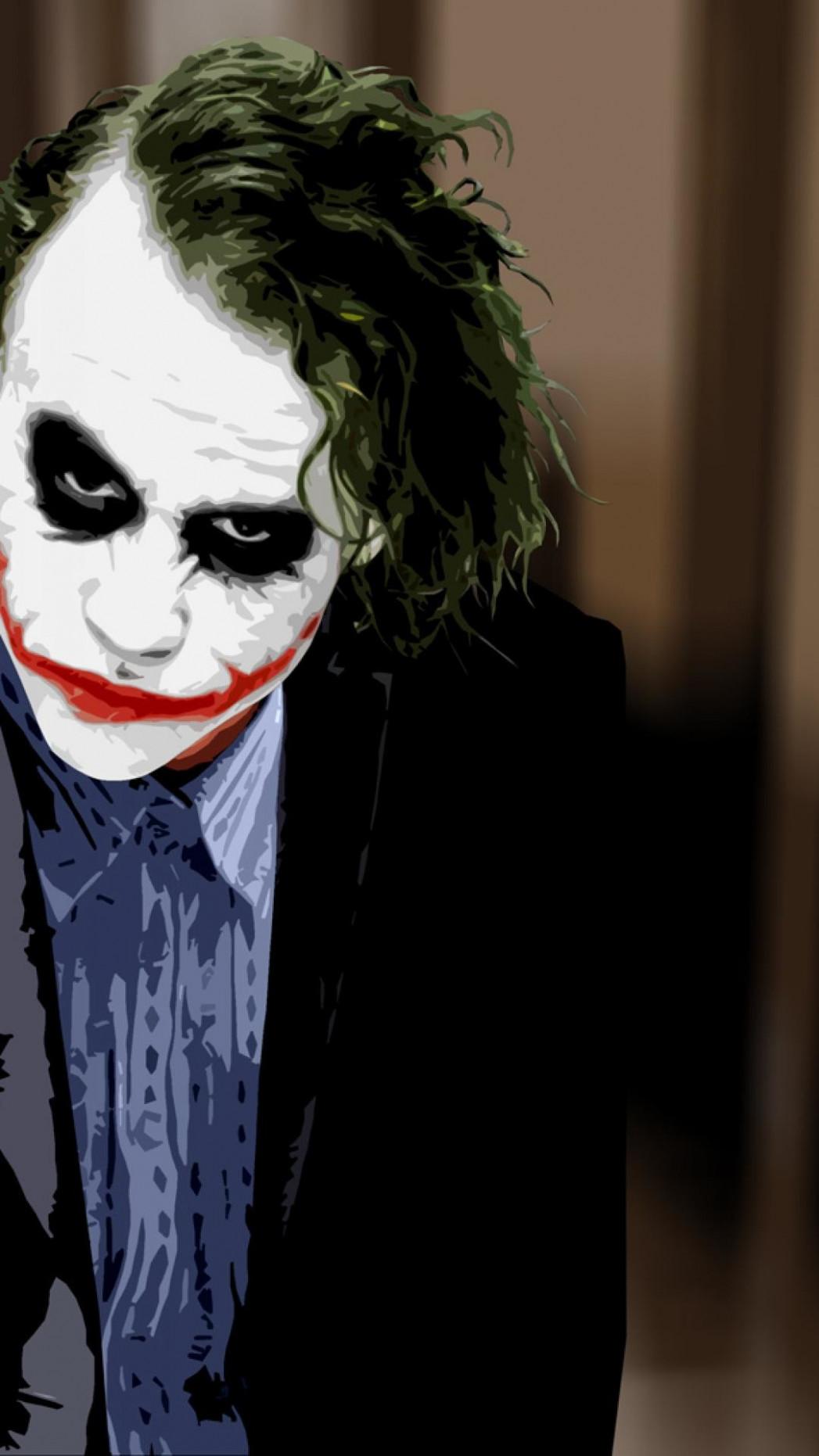 New Joker Wallpaper - Heath Ledger Joker Hd , HD Wallpaper & Backgrounds