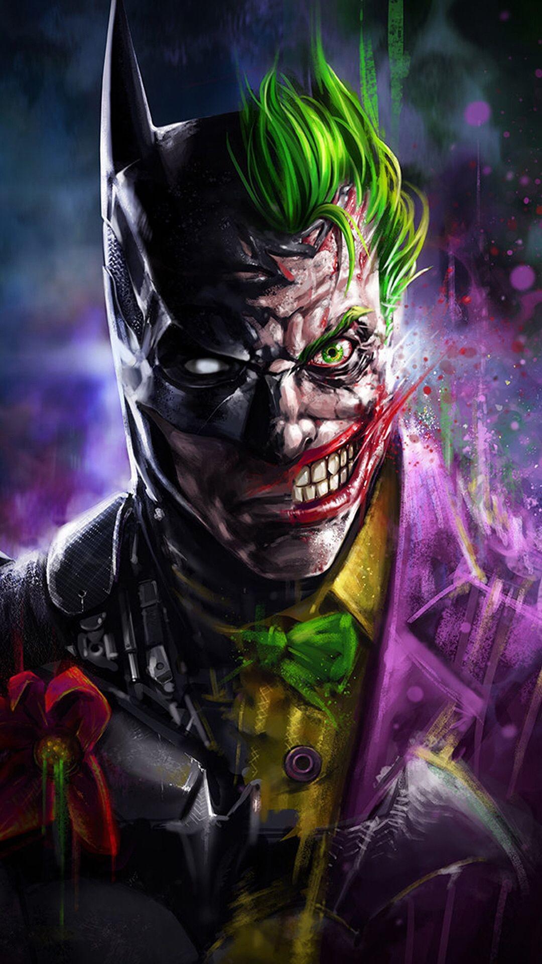 Joker Joker Hd Wallpaper For Iphone Hd Wallpapers - Batman And Joker Face , HD Wallpaper & Backgrounds