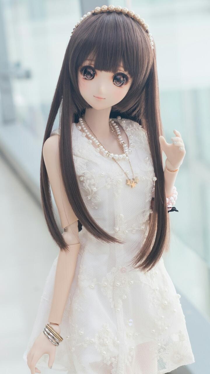 Doll, Kawaii, And Wallpaper Image - Beautiful Anime Doll Girl , HD Wallpaper & Backgrounds