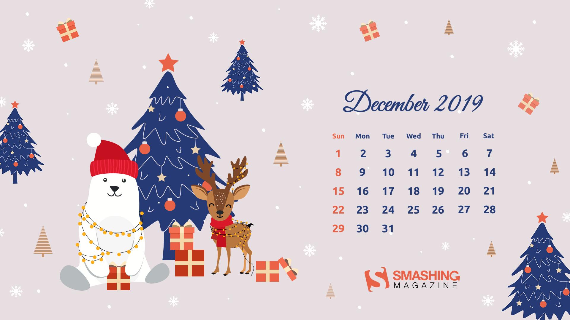 Christmas Mood December 2019 Calendar-1920x1080 - December 2019 Calendar Wallpaper Desktop , HD Wallpaper & Backgrounds