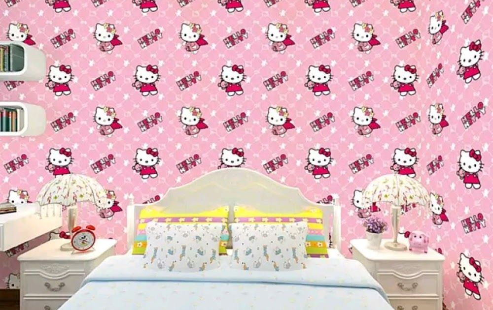 Gambar Wallpaper Warna Pink Harga Wallpaper Dinding Hello Kitty 2868825 Hd Wallpaper Backgrounds Download