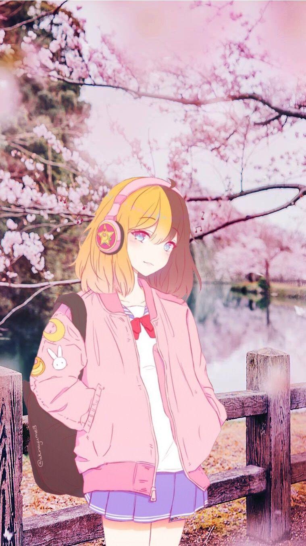 fond d'écran manga printemps