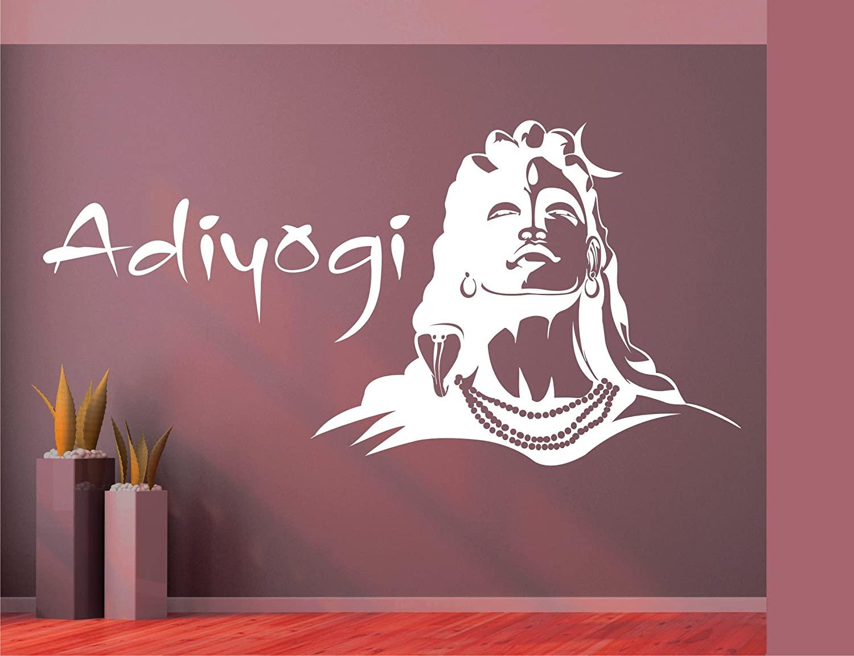 Heaven Decors Lord Shiva And Adiyogi Religious Wall - Shivaji Maharaj Wall Art , HD Wallpaper & Backgrounds