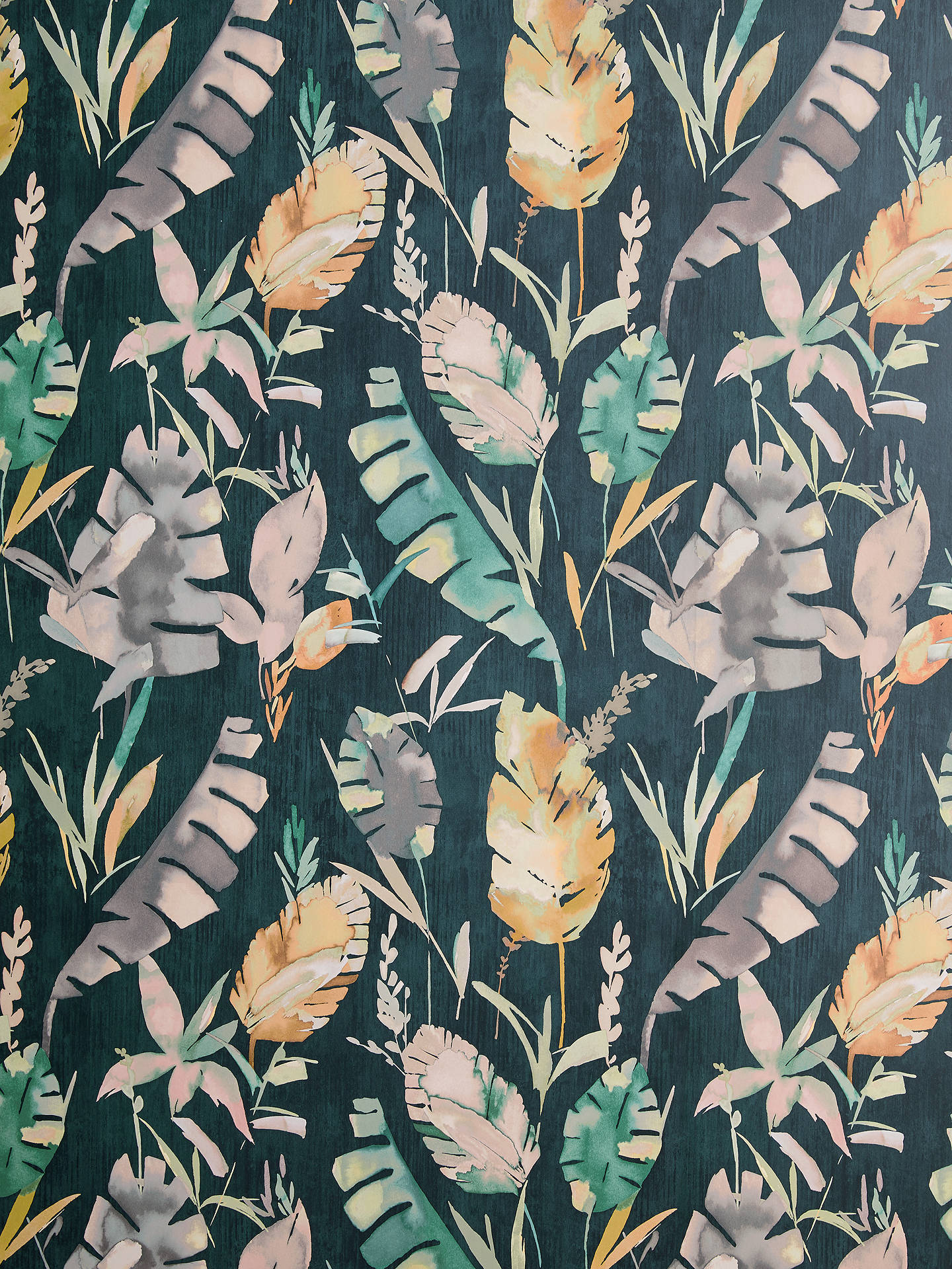 Buy John Lewis & Partners Aralia Wallpaper, Navy Online - Motif , HD Wallpaper & Backgrounds