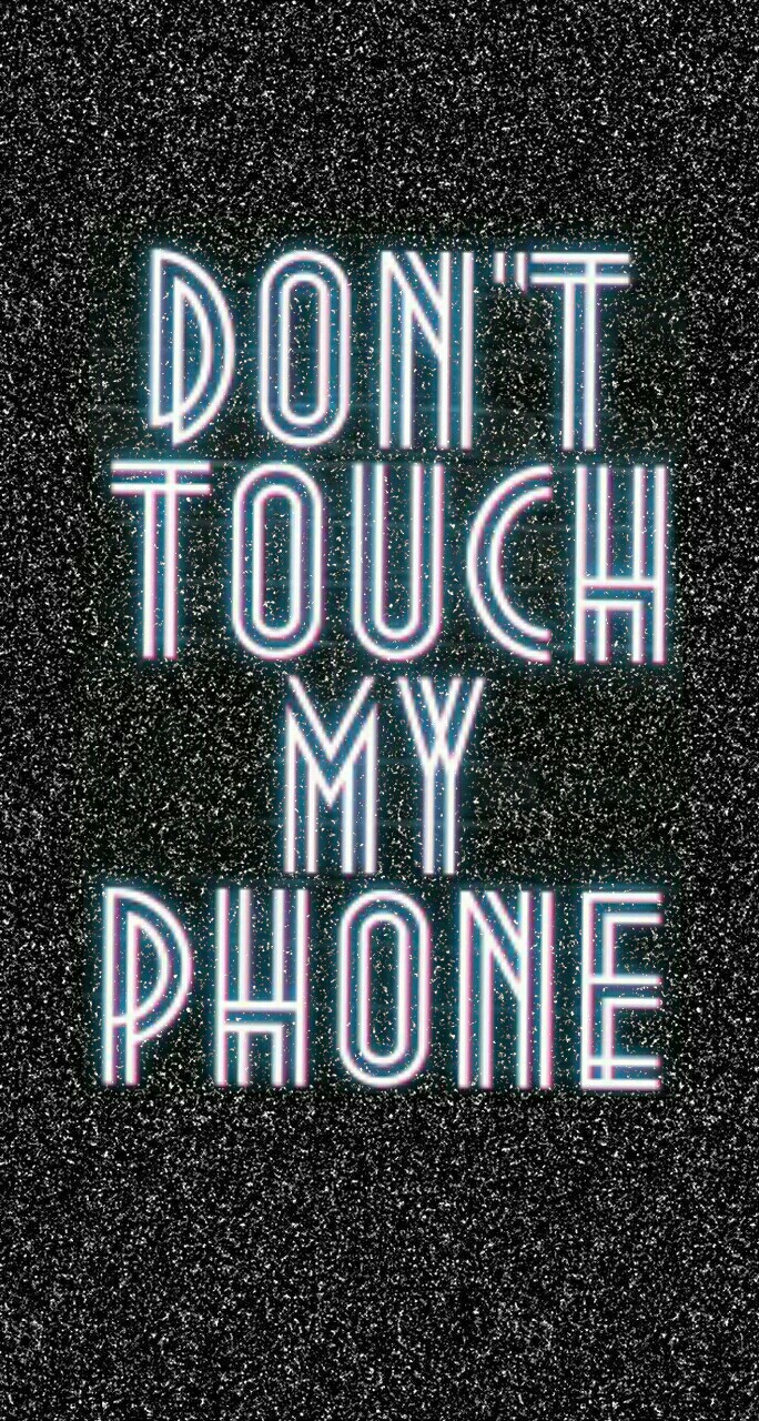 Phone, Lockscreen, And Don T Touch My Phone Image - Graphic Design , HD Wallpaper & Backgrounds