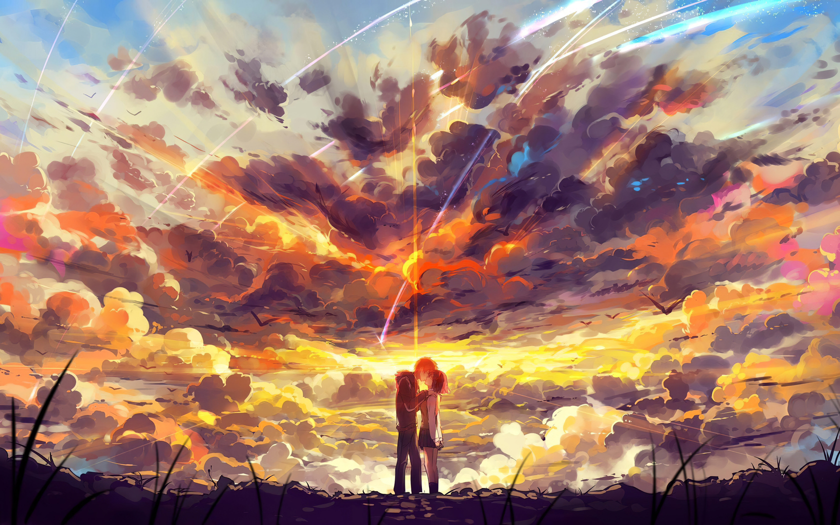 Kimi No Na Wa Painting , HD Wallpaper & Backgrounds