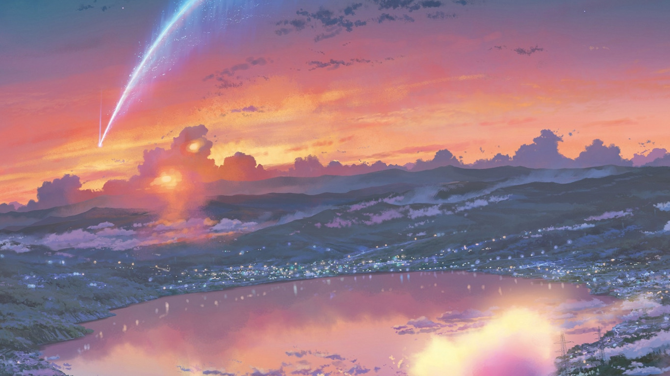 Anime Your Name Background Hd , HD Wallpaper & Backgrounds
