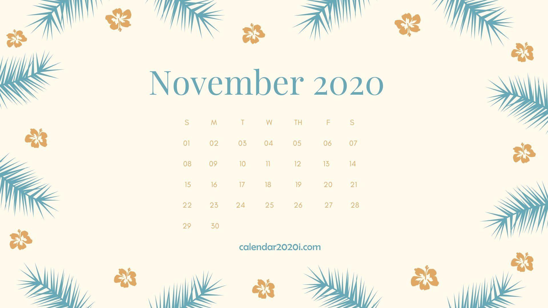 Calendar Monthly Hd Wallpaper - November Wallpaper Calendar 2020 , HD Wallpaper & Backgrounds