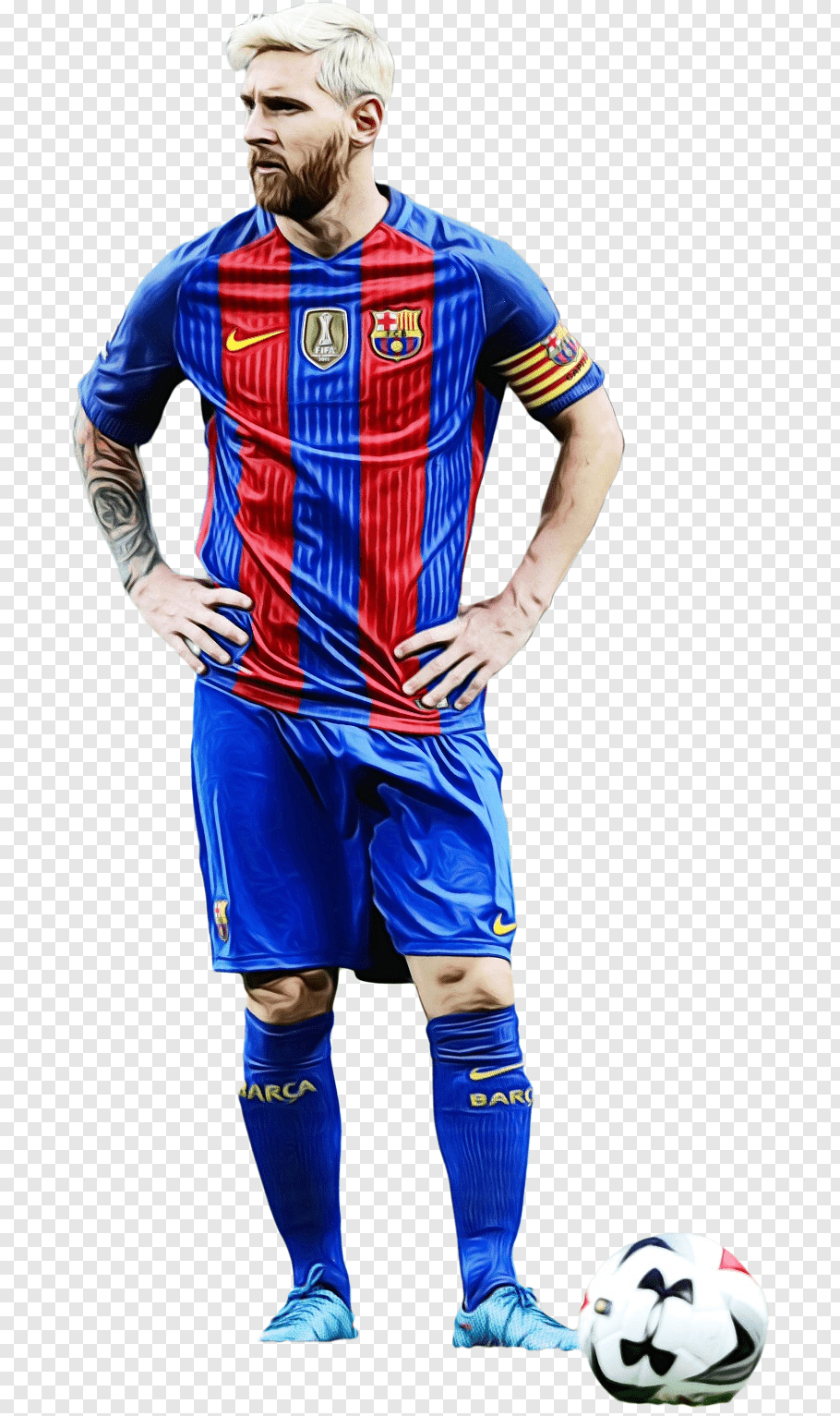 Messi, Watercolor, Paint, Wet Ink, Lionel Messi, Fc - Lionel Messi 2017 Png , HD Wallpaper & Backgrounds