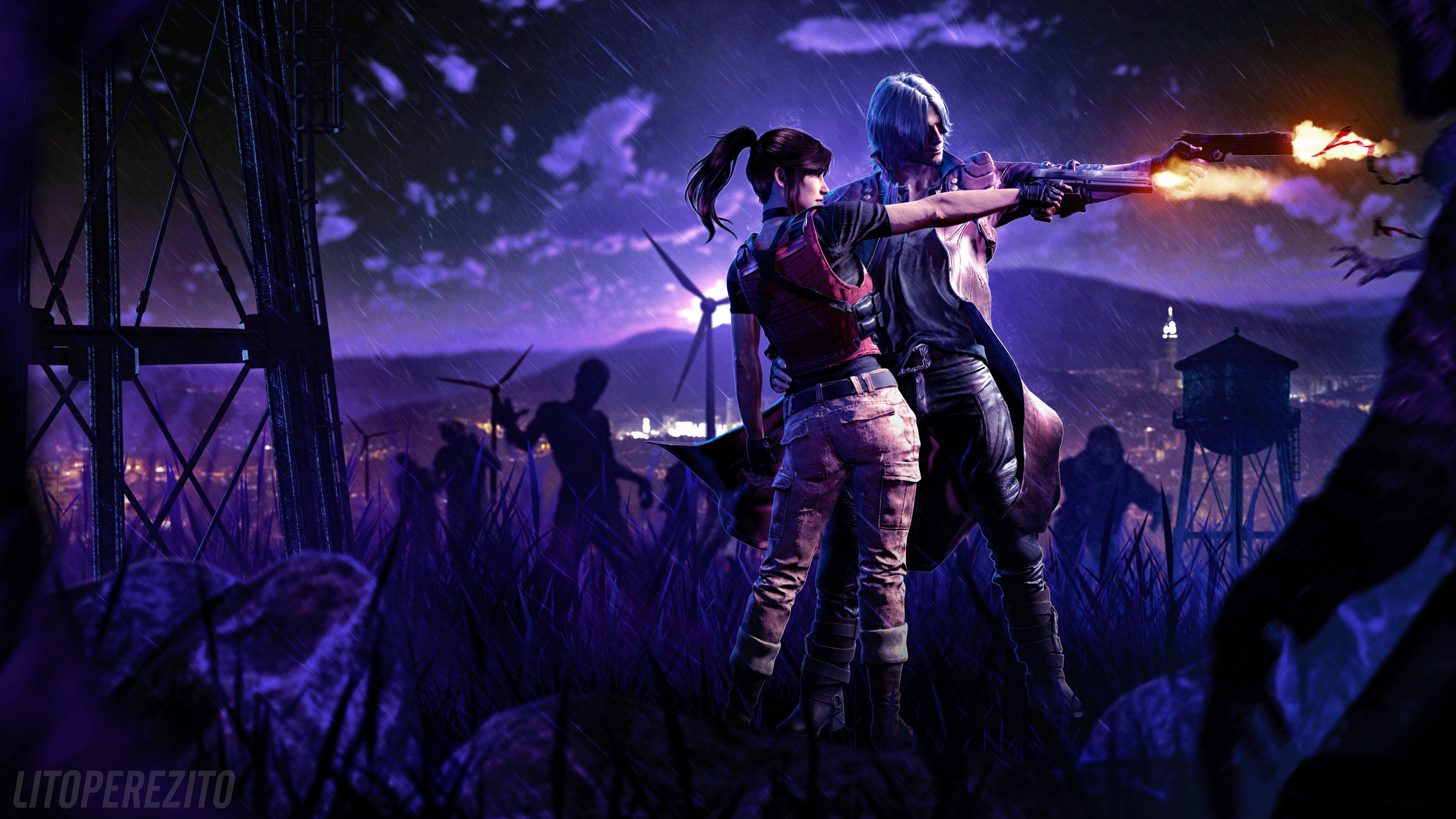 Resident Evil Devil May Cry 5 - Iphone Devil May Cry , HD Wallpaper & Backgrounds