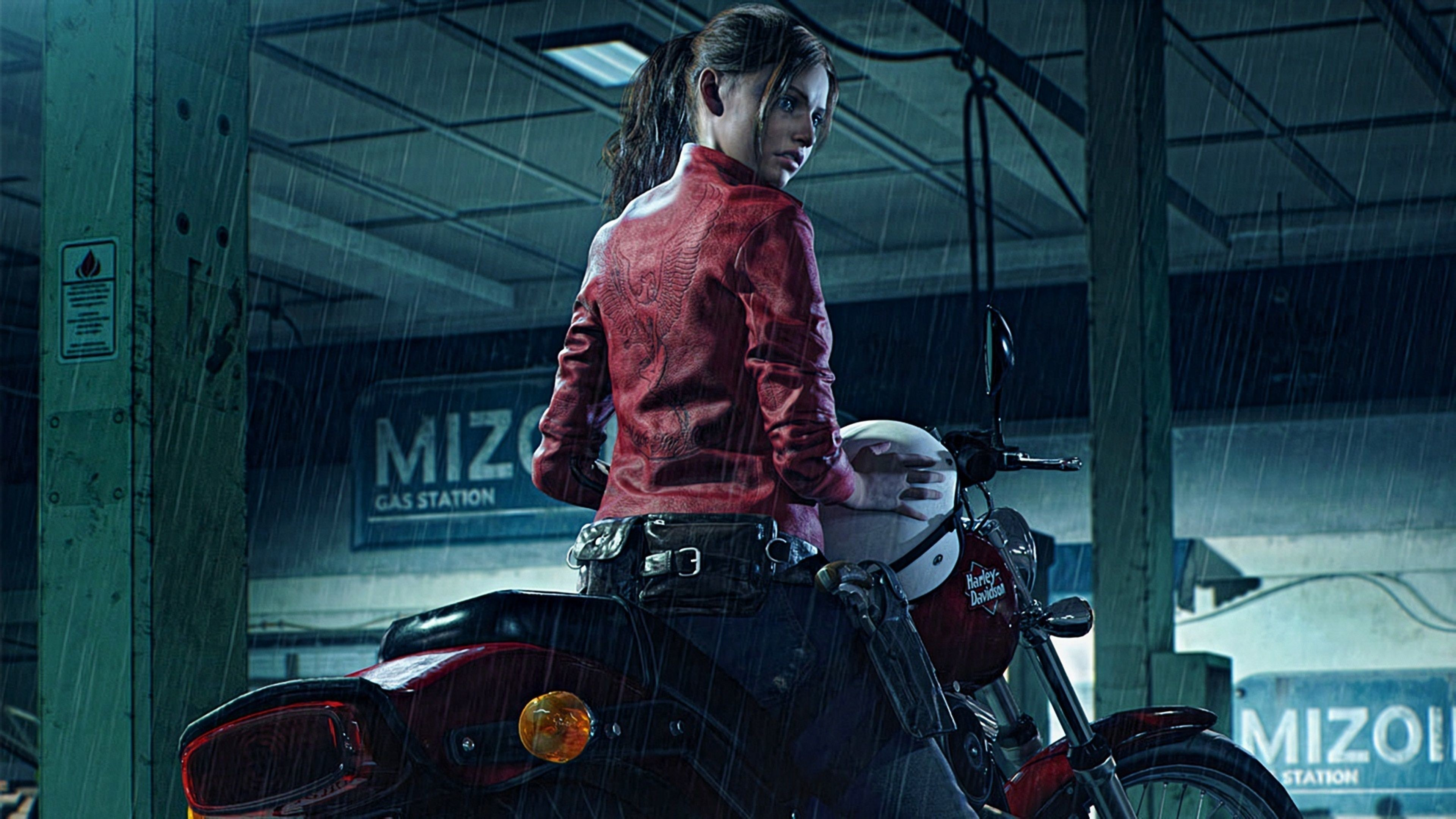 3840x2160, Resident Evil 2 2019 Claire Redfield Harley - Resident Evil 2 Remake Claire Redfield , HD Wallpaper & Backgrounds
