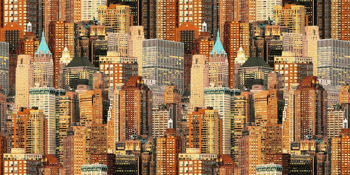 3d Pvc City View Wallpaper For Bedroom Background Wall - Building Black And White , HD Wallpaper & Backgrounds