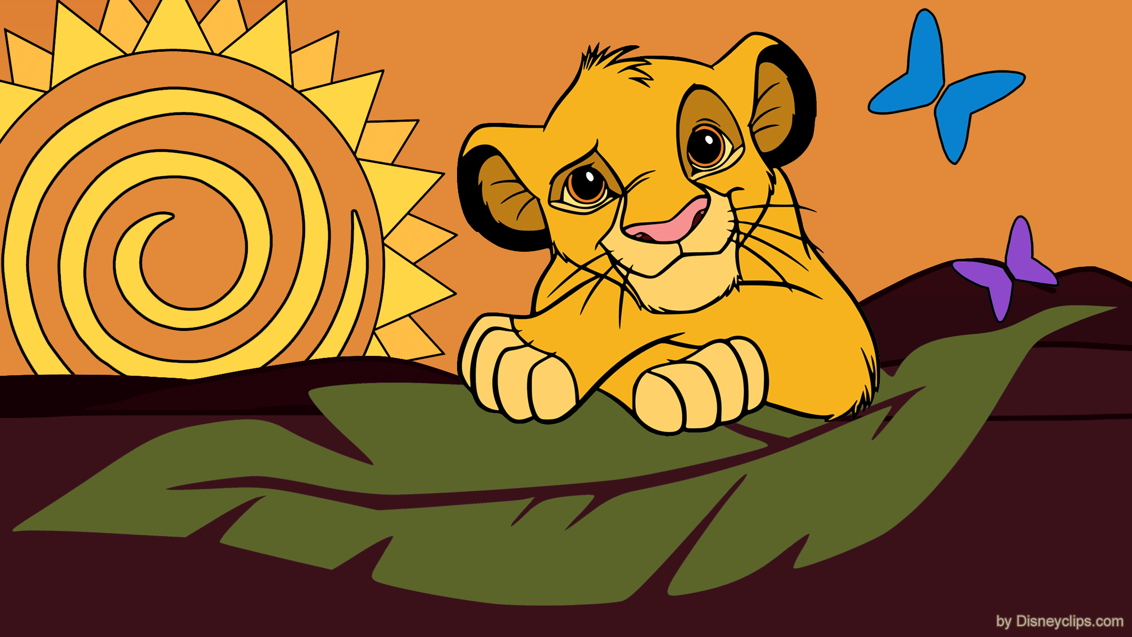 Dessin A Dessiner Simba , HD Wallpaper & Backgrounds