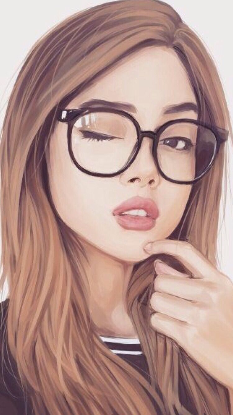 Pin By Luz Perez On Awesome Wallpapers - Pretty Girl Beautiful Girl Drawing , HD Wallpaper & Backgrounds
