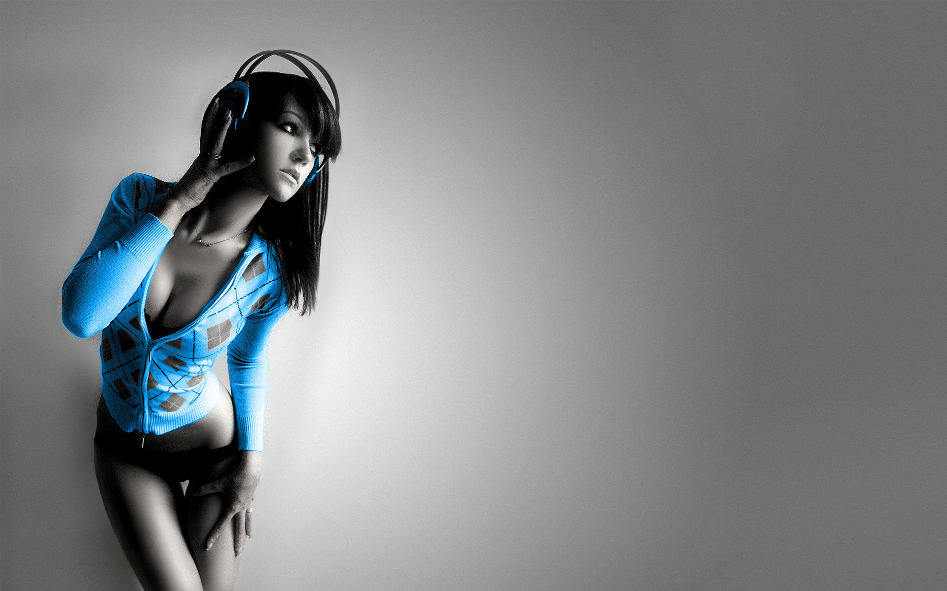 Music Girl Wallpaper Music, Girl, Electric, Blue, Looking - Music Girl Wallpaper 4k , HD Wallpaper & Backgrounds