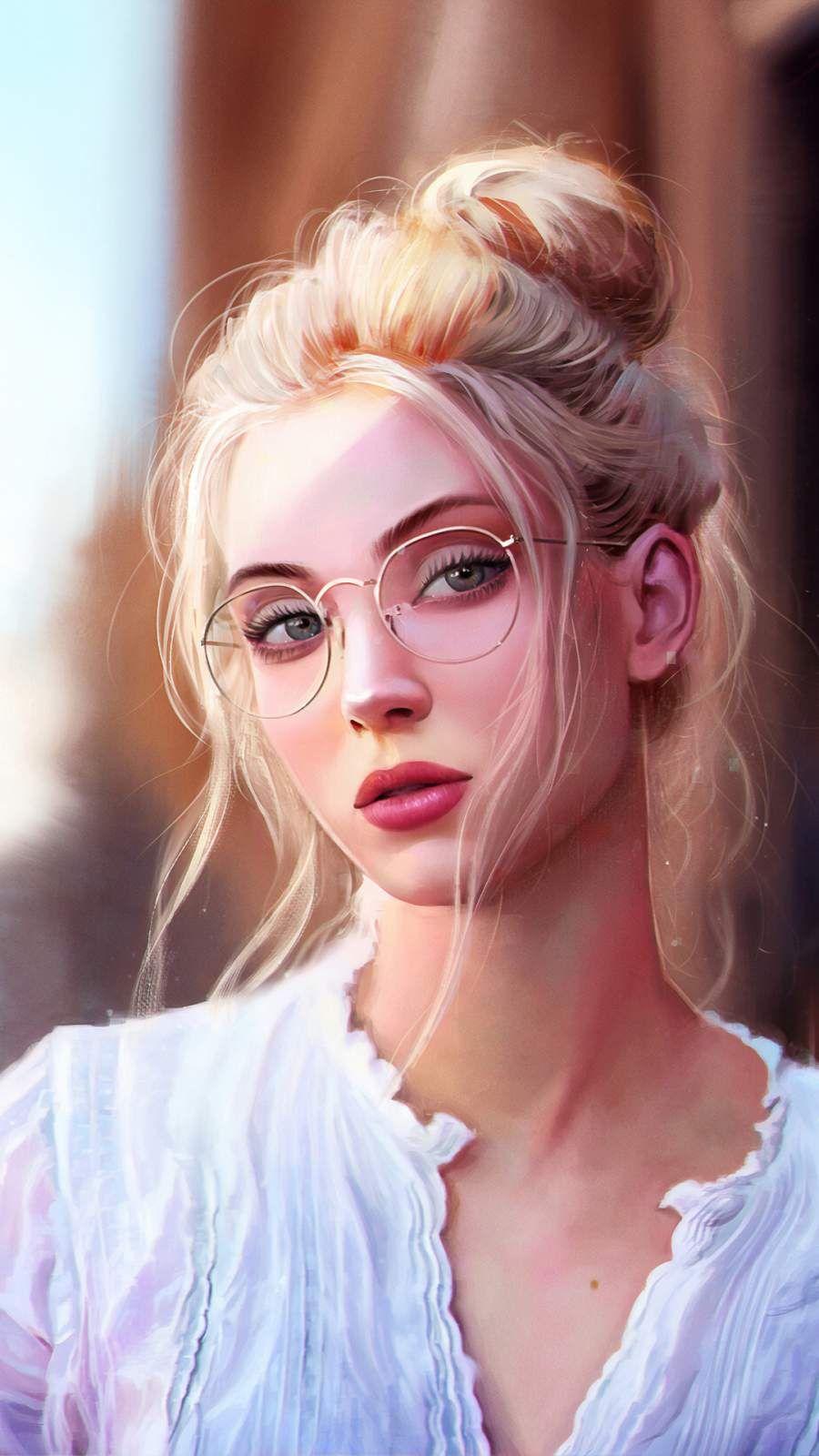 Blonde Hair Digital Art Girl , HD Wallpaper & Backgrounds