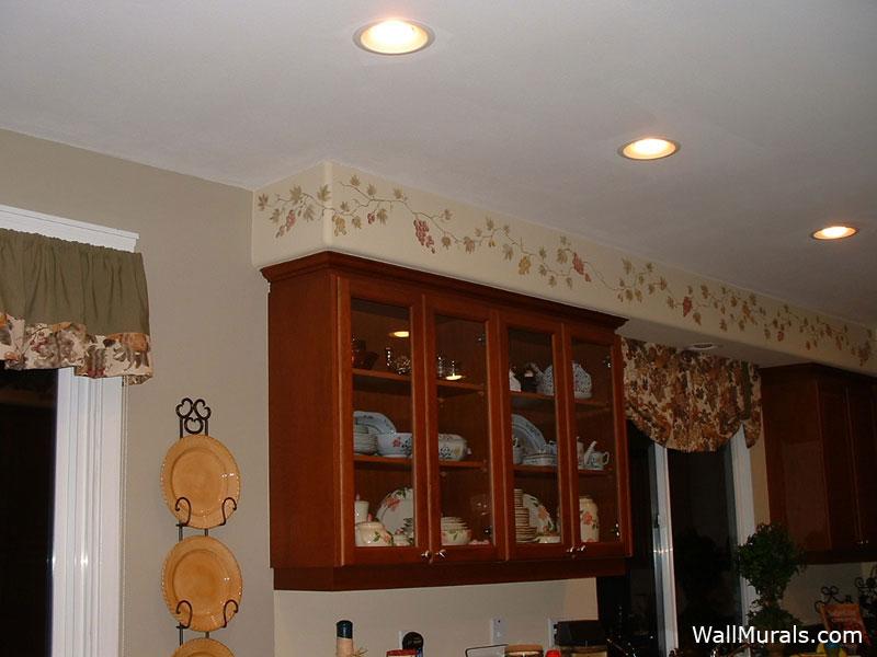 Kitchen Wall Border On Grape Vines Kitchen Wall Border - Kitchen Wall Border , HD Wallpaper & Backgrounds