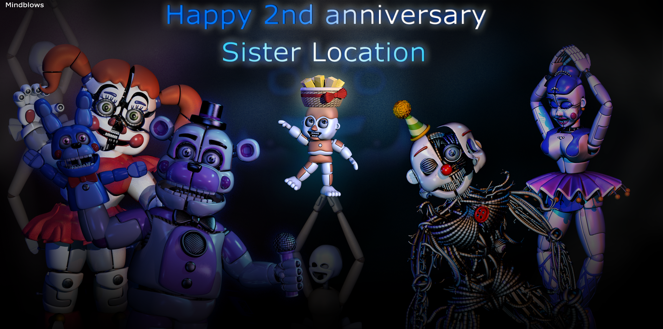 Renderfive Nights At Freddy S Sister Location Cartoon 290211