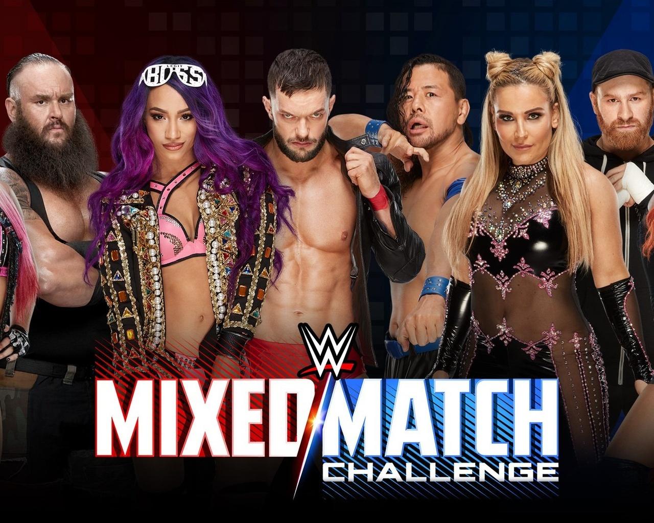 Wwe, Sasha Banks From Wwe, Sasha Banks And Finn Balor, - Wwe Mixed Match Challenge Season 2 , HD Wallpaper & Backgrounds