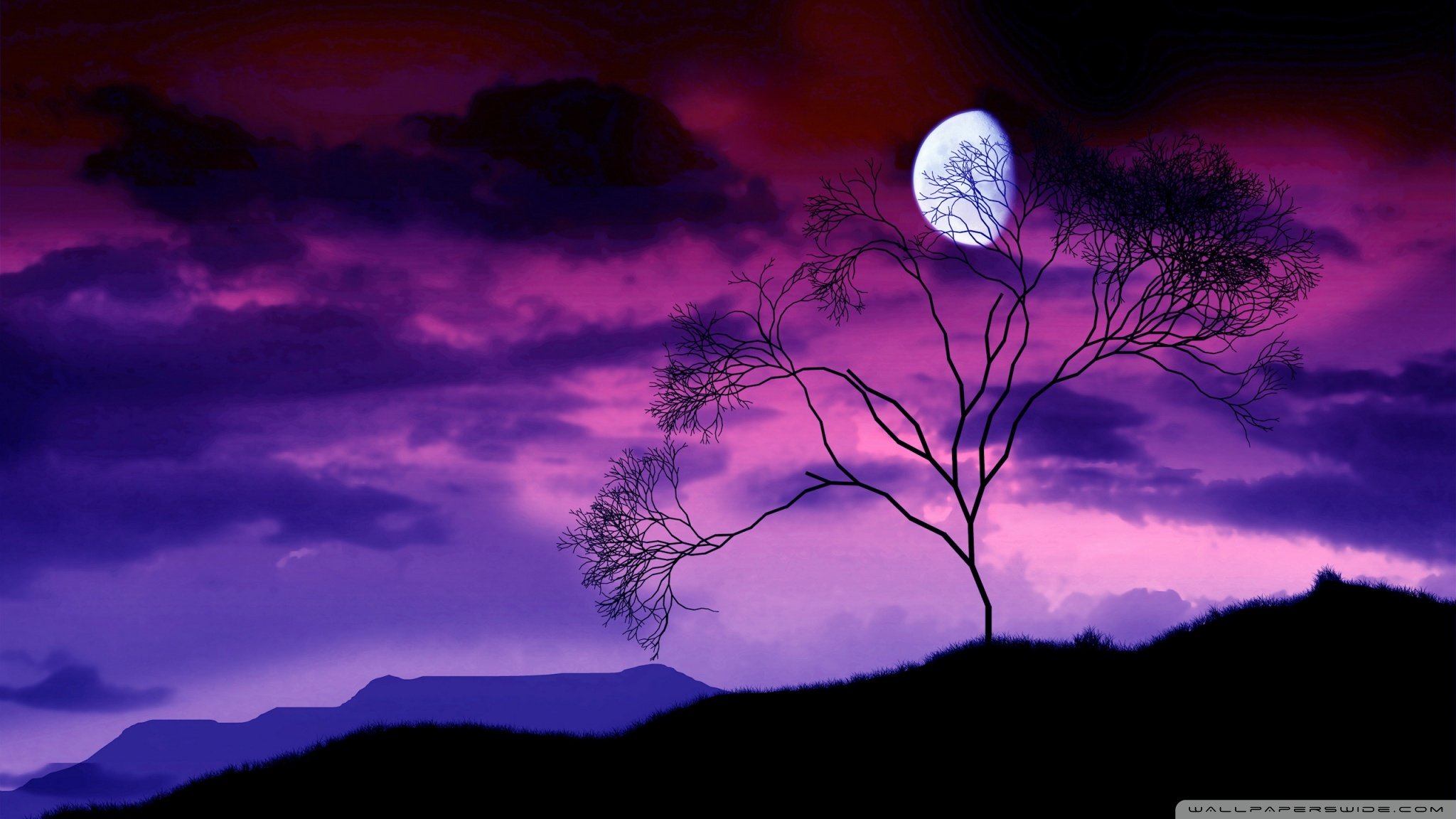 Hd 16 - - Night Sky Background With Moon , HD Wallpaper & Backgrounds