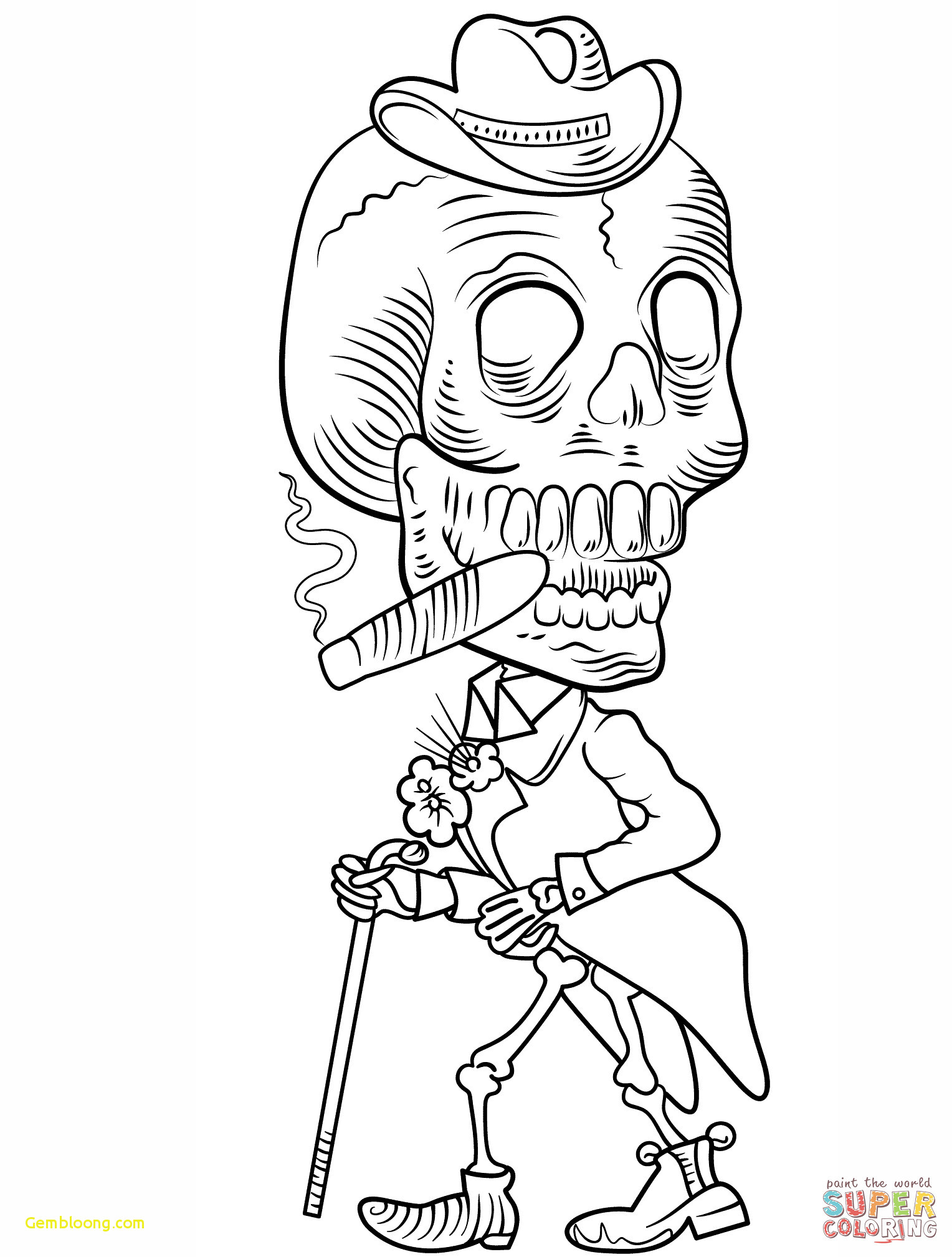 Day Of The Dead Coloring Pages Dessin 25 Dia De Los - Woman Body Color Page , HD Wallpaper & Backgrounds